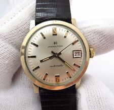 """HAMILTON,1960's,""""Automatic Date/Just Dial"""" Genuine Lizard Band MEN'S WATCH,1482"""