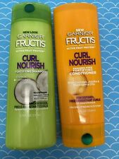 GARNIER Fructis Curl Nourish Fortifying Shampoo & Conditioner 12oz NEW