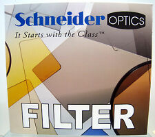 """New Schneider 4x4"""" Solid Color Amber 1 Glass Filter Tiffen Filters #68-107144"""