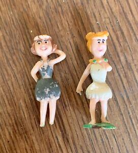 Marx Toys Toonkins, Wilma & Betty, Hanna Barbera. Miniature.Collectible.