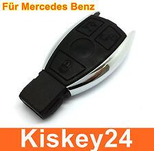 3Tasten Schlüssel Gehäuse für Mercedes Benz W203 W204 Chrom Reparatur