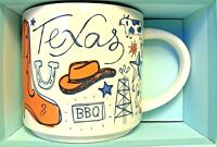 Starbucks Mug Been There Series Collectible Texas Color 2018 14 Oz New LE