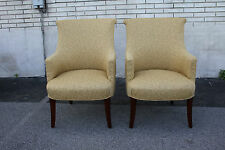 Elegant Pair of Regency Style Club Armchairs, New Upholstery