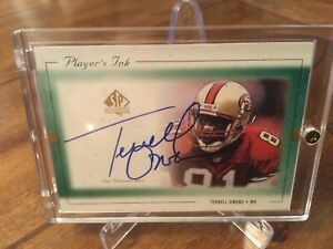 1999 SP Authentic Players Ink Terrell Owens Auto