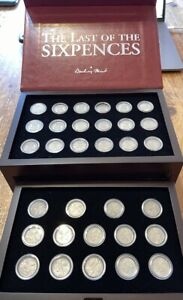 1936 - 1967 The Last of the Sixpences Collection in Bespoke Coin Case