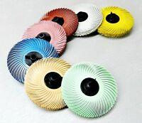 "3M Radial Bristle Disc Brush 3"" 7 Grades 6-PLY with Hubs 7 Various or Assortment"