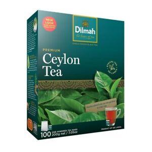 DILMAH Nature Premium blend pure Ceylon Black Tea loose 100 bags free shipping
