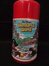 Vintage 1979 Disney's Wonderful World Aladdin Plastic Thermos M2