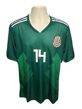 Mexico Chicharito #74 New Home World Cup Boys Green XL Jersey