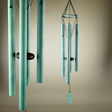 Hand Tuned Crafted Metal Hanging Windchime Green Home Decor Garden 85cm