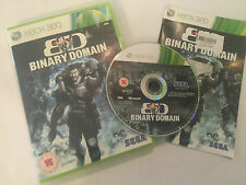 XBOX 360 GAME BINARY DOMAIN +BOX & INSTRUCTIONS COMPLETE PAL