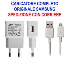 Caricabatterie Presa Muro Cavo Micro USB Originale Samsung 2A Galaxy S3 S4 S6 S2