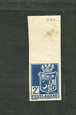 FRANCE ALGERIA YV # 179, IMPERFORATED, M NO GUM