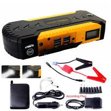 12V Car Starter Jump Jumper Booster Power Bank Battery 4USB Charge For Petrol