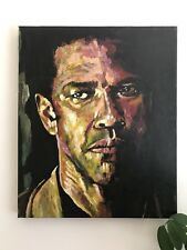 American gangster - Original Acrylic Painting 24 x 20 Inches Deep Edge Canvas.