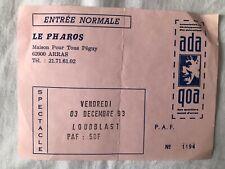Ticket Concert LOUDBLAST  Rare 1993