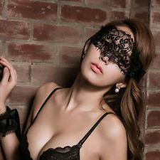 New Women's Sexy Lingerie Black Lace Eye Covers with 1 pair Hand Wrap Gloves