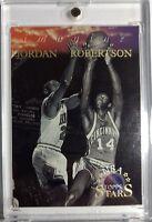 1996 96 Topps NBA Stars Michael Jordan and Oscar Robertson, Imagine #I-6, Insert