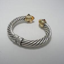 David Yurman 18K & Silver 10mm Cable Classics Bracelet Citrine