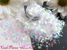 Nail Art Chunky *Unicorn Food* Dot Circles Translucent Glitter Spangles Mix Pot