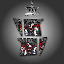 Pro Armor Door Graphics Kit Polaris RZR XP 900 RZR S 800 07-14 Evil Joker Red