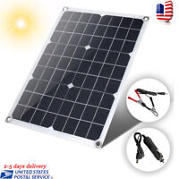 Watt Semi Flexible Solar Panel Battery Charger Controller Kit with Controller US