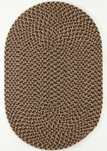 Camden Black Shadow Tweed Country Cottage Home Classic Oval Braided Rug CD86