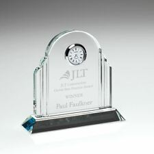 CLOCK9B Clear Glass Arched Clock - 5.75in Includes Free Engraving
