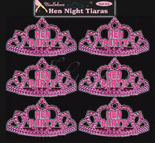 8 Miss Behave Hen Party Bride to be Night Hot Pink Mini Tiara Accessory Costume