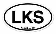 "LKS Lake Superior Oval car window bumper sticker decal 5"" x 3"""