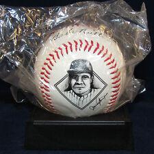 Babe Ruth Commemorative Fotoball Baseball w Stand + COA