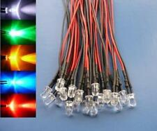 (50 pcs) Mixed Color 5mm Wired LED Light 12V 9V red white blue green yellow 5V
