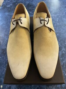 Corthay Arca Pullman Cappuccino Patina Suede Lace Up Brogue Shoes 8.5 $1950