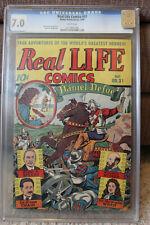 REAL LIFE COMICS #31 1946 SCHOMBURG COVER CGC 7.0 F/VF WHITE PGS