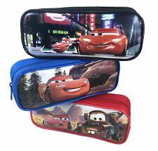 Disney Cars Set of 3 Pencil Pouch Zippered Pencil Case Authentic Bag