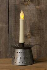 Primitive/Farmhouse Distressed Metal Punched Taper Candle Holder FREE SHIPPING