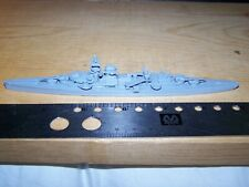 Wwii German Heavy Cruiser Admiral Hipper Warship Recognition 1:1200 Model Come