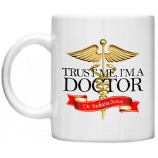 Customised Custom Personalised Trust Me I'm A Doctor Caduceus 11oz Mug Novelty