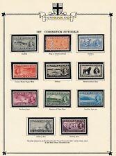 Newfoundland (1937) #233-243 (COMPLETE SET) MH CV $42