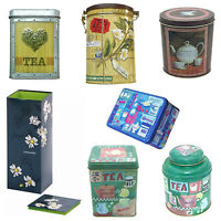Tea Caddy Storage Containers Various Canisters Tins Jars Vintage Traditional VJ