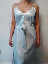 Zara Silver Metallic Camisole Slip Dress NWT Size M Ref 2183/158