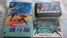 Konami Super Contra Famicom NES JP GAME from JPN Free Ship RARE Box Instruction