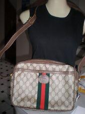 Vintage Gucci Web Accessory Collection Bag CROSSBODY BAG  LARGE  2 ZIPPER PURSE