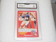 Thurman Thomas GRADED ROOKIE!! Mint 9!! 1989 Score #211 Bills HOFer!! 1%