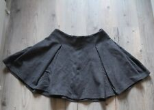 Zara Womens Grey Pleated Fit and Flare Skirt Size M