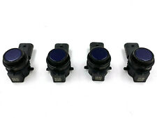 4x New OEM BMW Ultrasonic Sensor Parking Assist 66209353663 Mediterranean Blue