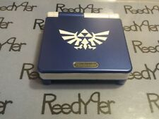 Blue & White Zelda GameBoy Advance SP *MINT* AGS-101 Brighter Nintendo System gb