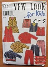 New Look sewing pattern Kids wardrobe no. 6532 sizes 6 months to 4