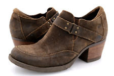 Born Womens 9.5 Brown Suede Nyssa Slip On Ankle Booties Shoes