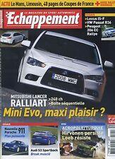 ECHAPPEMENT n°491 07/2008 LANCER RALLIART PORSCHE 911 AUDI S3 SPORTBACK 206 CC